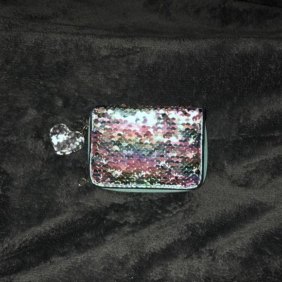 Handbags - Small teal sequin wallet